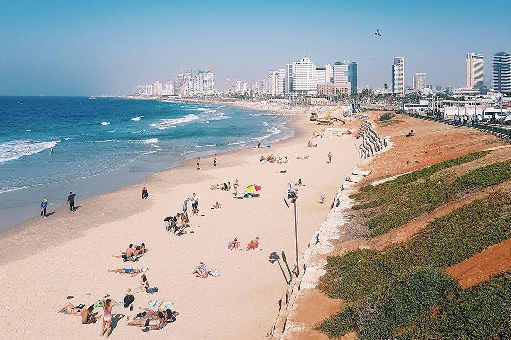 Strand bij Tel aviv